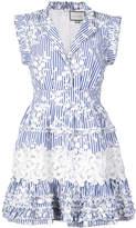 Alexis Olya lace embellished shirt dress