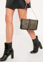 Missguided Multi Stud Clutch Bag Black