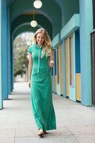 Shabby Apple Laguna Maxi Dress Green