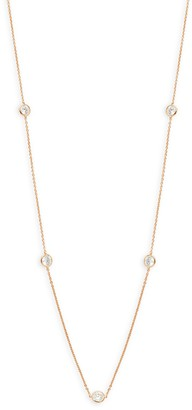 Adriana Orsini Rose Goldplated Crystal Station Necklace