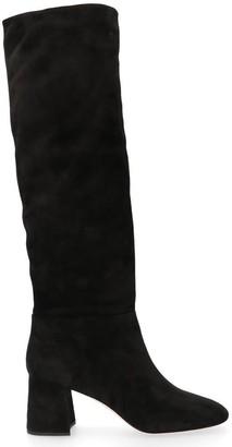 Miu Miu Suede Block Heel Boots