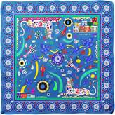 Cyclades Silk Scarf Friendship in Blue