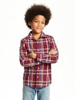 Old Navy Plaid Poplin Shirt for Boys