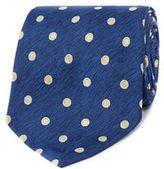 Osborne Navy And Blue Polka Dot Patterned Tie