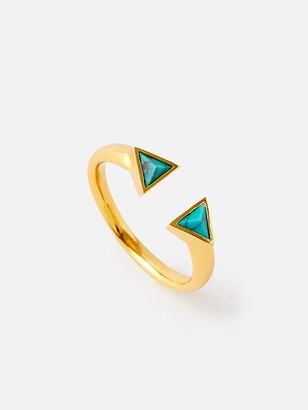 Accessorize Z Healing Stone Pyramid Ring - Gold