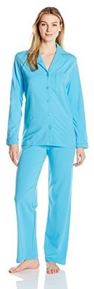 Shadowline Women's Pajama Set-Notched Collar Top and Pj Pants