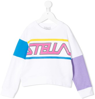 Stella McCartney Logo Print Crewneck Sweatshirt