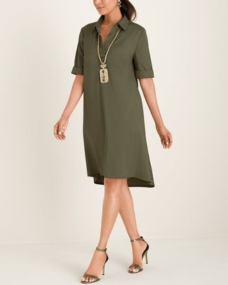 Chico's Solid Shirt Dress
