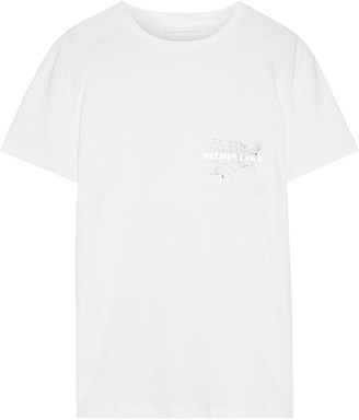 Helmut Lang Laws Printed Cotton-jersey T-shirt