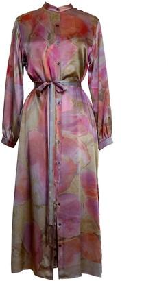 Carmen Molina Petals Silk Shirt Dress