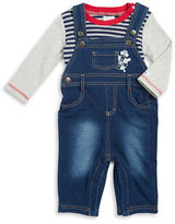 Absorba Striped Tee and Overalls Set