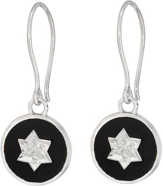 Harry Rocks North Star Enamel Earring Black Silver