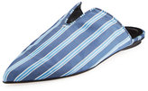 Tibi Cacey Striped Mule Slide