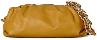 Bottega Veneta The Pouch Chain Bag in Ocra & Gold | FWRD