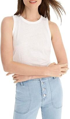 J.Crew Tie-Back Tank Top (White) Women's Clothing
