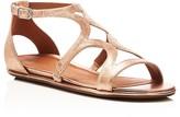 Gentle Souls Oak Metallic Flat Sandals
