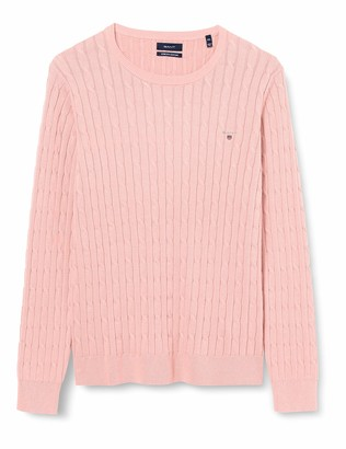 Gant Women's Stretch Cotton Cable C-Neck Sweater