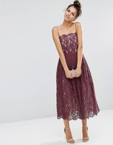 Asos Delicate Lace Bandeau Prom Dress