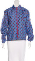 Tory Sport Bird Print Athletic Jacket