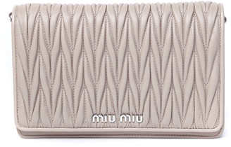 Miu Miu Pink Quilted Leather Bag