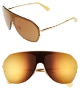 Dolce & Gabbana Women's 60Mm Aviator Sunglasses - Gold/ Brown