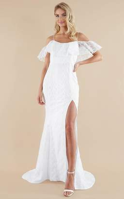 Showpo Forever Gown in white lace - 4 (XXS) Bridal Gowns