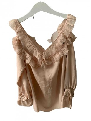 Intermix Pink Silk Top for Women