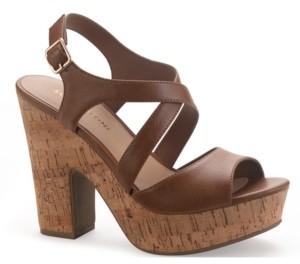 Sun + Stone Janayy Crossband Platform Dress Sandals, Created for Macy's Women's Shoes