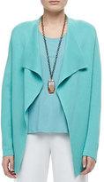 Eileen Fisher Silk-Cotton Interlock Jacket, Plus Size
