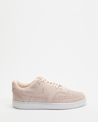 Nike Women's Pink Low-Tops - Court Vision Low - Women's - Size 6 at The Iconic