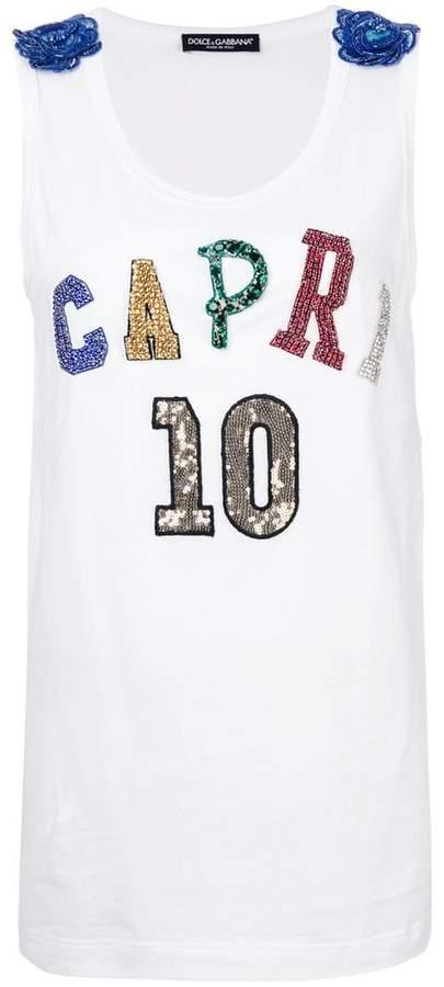 Dolce & Gabbana Capri 10 tank top