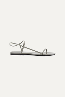 The Row Bare Leather Sandals - Gray
