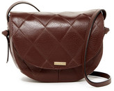 Tignanello In Knots Argyle Embossed Leather Saddle Crossbody