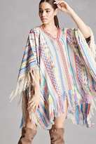 Forever 21 FOREVER 21+ America and Beyond Woven Poncho