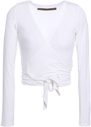 Enza Costa Stretch-jersey Wrap Top