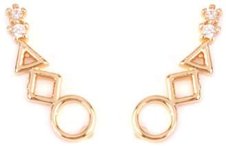 Riah Fashion Geometric Shapes Crawler-Earring