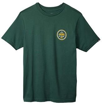 Vans Kids Checker 66 Short Sleeve T-Shirt (Big Kids) (Pine Needle) Boy's Clothing
