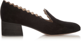 Chloé Lauren scallop-edges suede loafers