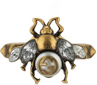 Gucci Bee ring with Interlocking G