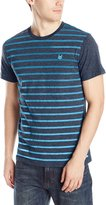 Zoo York Men's Short Sleeve Gradient Stripe Crew Neck Knit Top