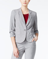 Amy Byer Juniors' Ruched-Sleeve Blazer