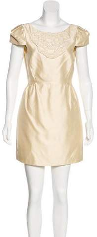 Tibi Silk-Blend Mini Dress