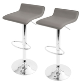 Lumisource Ale Height Adjustable Barstools (Set of 2)