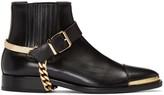 Balmain Black Buckled Chelsea Boots