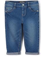XOXO Medium Wash Stretch Denim Capri Pants - Toddler & Girls