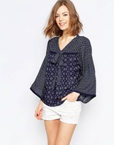Only Bell Sleeve Boho Top