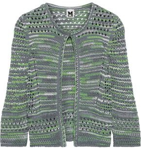 M Missoni Open-knit Cotton And Linen-blend Cardigan