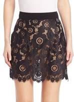 For Love & Lemons Sonya Lace Mini Skirt
