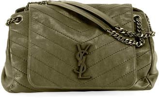 Saint Laurent Nolita Medium Monogram Double-Chain Shoulder Bag