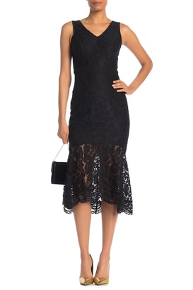 Nanette Lepore V-Neck Sleeveless Lace Dress